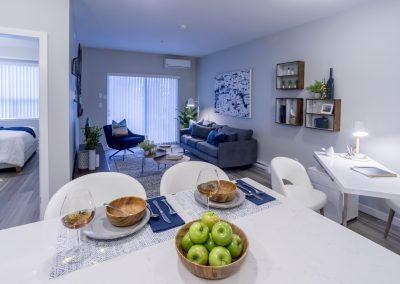 Peterson Landing Suite 106 Kitchen to Living Room & Bedroom 02 © 18-4845...